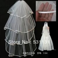 Veil brief bridal veil princess all-match long design wedding accessories