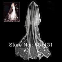 Hair accessory luxury princess 2013 rhombus net champagne color laciness design single long veil