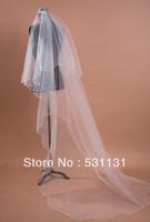 Soft veil train 3 meters classic fashion bridal veil elegant long trailing veil bride