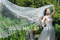 Water bridal veil  3 meters ultra long multi-layer veil formal wedding accessories