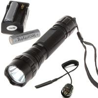 10PCS/LOT Mini  WF-501B 1000Lm CREE XM-L T6 LED Flashlight with Batteries & Battery Charger & Remote Pressure Switch