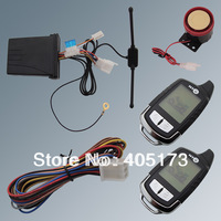 In Stock! Beret Two Way Motorcycle Alarm System With Remote engine start starter 2 way LCD pager remote adjustable sensitivity