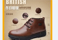 Free Shipping 2013 New Arrivals Men Boots  Cotton-Padded Martin Shoes Leather Warm Boots Winter Boots Men's