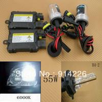 Car Auto parts Xenon 55W Xenon HID Conversion Slim Kit H4-2 6000K