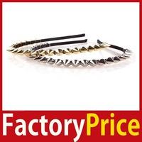 [Factory Price] Women Lady Girl Hot Fashion Headband Bow Punk Spike Rivet Studded Hair Band #02 High Quality