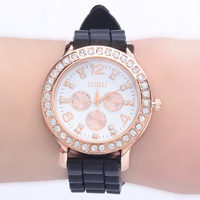 sell like hot cakes! Three Eye Six Needle Fashion Men Women The silicone Quartz Wristwatch Jelly Wristwatch / 6 color