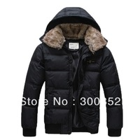 2013 autumn winter fashion detachable cap leisure men's down Parkas jackets & top quality cotton-padded coats