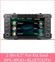 6.2 inch touch screen 2 din car dvd player gps Navigation for Kia Soul GPS RADIO RDS DVD MP3 BLUETOOTH A2DP tracking glonass