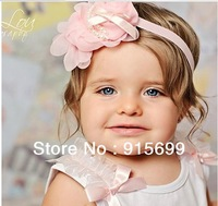 Headband Chiffon headband Baby headbands girl headband elastic  Baby bows Baby girl headbands - [Top- Baby ]