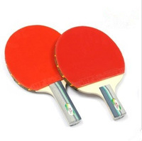 Hot Sale Original Double Fish 2A Long Handle Or Short Handle Ping Pong Racket Table Tennis Racket Free Table Tennis Ball