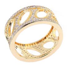New Fashion Woman Luxury Flower Shape Crystal rings Top Grade Zirconia Crystal Nickel Free Plating Propose