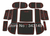 Free shipping!SUBARU XV door pad,Non-Slip Interior door pad/cup mat,14pcs/set!(tell me car name+year+Red/Blue optional color!)