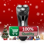 Hot Sale Povos PQ7100 3D Rotary Folting Triple Heads Rechargeable Full washable Electric Shaver Razor  Free Shipping