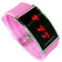 12 Color Retail Fashion LED Watch for Women/Digital Bracelet Wristwatches/Men Ladies Kids/ Silicone Hot Sale LED012C
