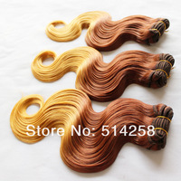 Ombre Two Tone 33#/144# Peruvian Body Wave Virgin Human Hair Weave Mix Order 2/3/4Pcs/Lot Peruvian Virgin Hair DHL Free Shipping