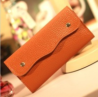Women wallet designer brand wallet fashion Leather Card Holder long Snap Button Wallet Leather Purse clutch women purse 822