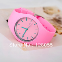 [77 Fashion] 2013 Hot sale New Fashion wristwatches Ladies brand silicone jelly color quartz watch women Free Shipping