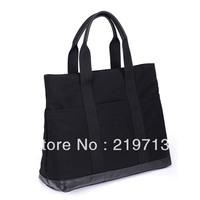 2014 Women Handbags High Quality Shoulder Bags Black Totes cavas bag Free Shipping