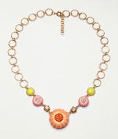 Free Shipping Fashion Jewelry Wholesale Funky Big Pumpkin Pendant Glod Chain JP111910