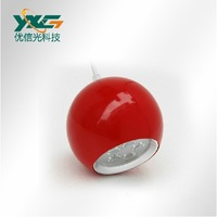 Free shipping Red shell 12w led pendant lamp ,85-265v 1080lm dinner room led  pendant lighting