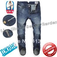 29-40#Blue#JYADU8191,New 2014 Italian Brand Men's Jeans,Original Fashion Warm Plus Size Straight Slim Whisker Perfume Jeans Men