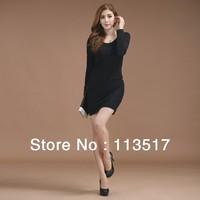 2013 winter new Korean yards Slim thin wild bottoming skirt package hip long-sleeved dress