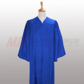 Senior Fluted Trinity Choir Robes with Open Sleeve - Royal Blue