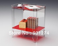 (1 piece Free Shipping) 100% high quality acrylic lucite bedside table/perspex night stand /acrylic bedroom furnitures
