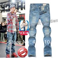 29-40#Blue#JYE8143,New 2014 Japan Brand Men's Jeans,Original Fashion Warm Plus Size Straight Slim Whisker Perfume Jeans Men
