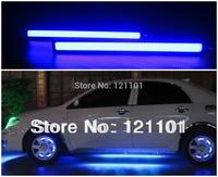 2pcs 12V LED COB Car Auto DRL Driving Daytime Running Lamp Fog Light Driving Lamp Dark Blue  17cm