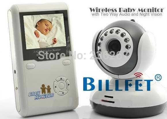 2015 Digital LCD Baby Video Monitor Kits 2.4GHz Wireless Night Vision Radio Nanny 2 Way Intercom talking electronics monitors(China (Mainland))