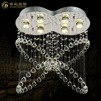 2013 Free shipping Italy style two balls L550*W300*H600mm modern crystal chandeliers bedroom lights restaurant  lamp