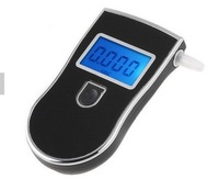 1pcs  NEW  Digital LCD Display with Blue Backlit Breath Alcohol Breathalyser Analyser Tester Detector Free Shipping