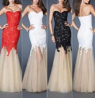 AEL3334 New Beautiful Mermaid Floor Appliqued Lace Muslim Evening Dresses Stock Size 2-16