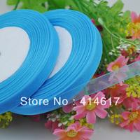 """100Y 3/8"""" Sheer Organza Ribbon Craft/Wedding/sewing Sky Blue Color  RA106"""