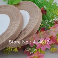 """100Y 3/8"""" Sheer Organza Ribbon Craft/Wedding/sewing Coffee Color RA104"""
