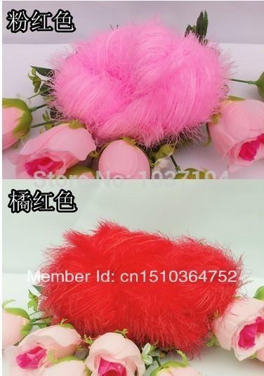 Atacado - grátis frete novas vendas quentes linha pena / o esquilo longo vilosidades fio / linha do xaile do lenço / luxuoso e nobre(China (Mainland))
