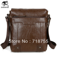 new 2013 leather bags for men High quality fashion casual man bag Brand Men's Messenger Bag Brown Shoulder Bags large capacity