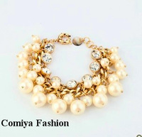 Fashion vintage fashion accessories personality trend of the pearl  pendant women's bracelet  for women 2014 pulseira lot