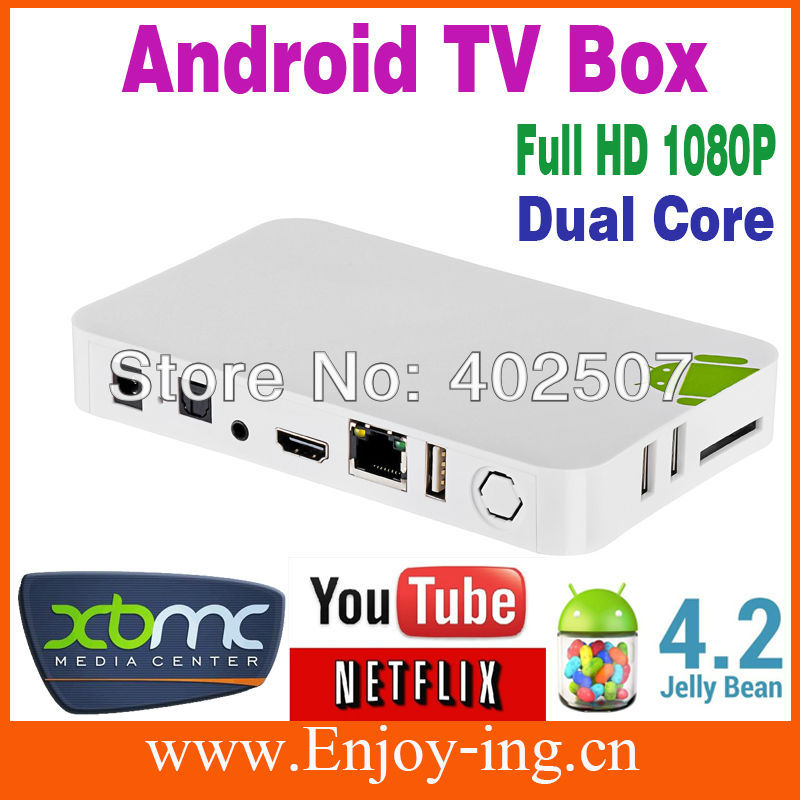 Dual Core Android Set Top Box Live Plus built in WI-FI Streaming HD Media Player 1080P Smart TV Box XBMC Media Player YOUTUBE(China (Mainland))