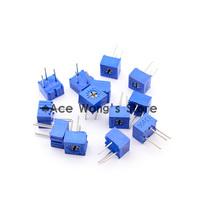 Trimpot Trimmer potentiometers Assorted Kit Single-Turn 3362P 100ohm-1Mohm ,variable resistor 13values*2pc=26pcs