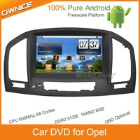 2 din Android Car DVD GPS Navigation For 2008-2011 Opel Insignia BT radio FM DVD Ipod support WIFI 3G DVB-T Freescale Platform