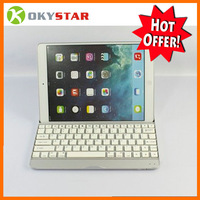 Black Aluminum Wireless Bluetooth Keyboard Holder Case Cover for ipad 5