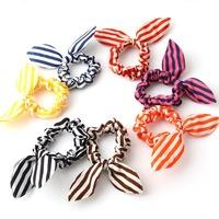 stripe printed  rabbit ears hairband  ViVi amazing hair accessories wholesale flower hair ties  headgear 60pcs/lot free shipping