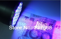 10PCS 21LED purple lights Yanchao ultraviolet light detecting fluorescence anti-counterfeiting flashlight scorpion
