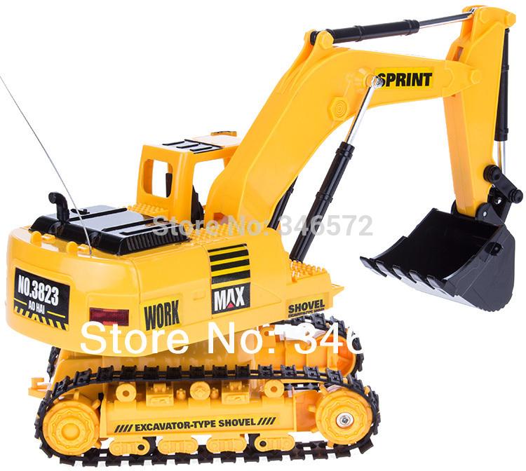 grande telecomando senza fili escavatore scavo macchina ricaricabile auto telecomando i giocattoli per bambini camion telecomando