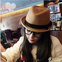 2013 fedoras women's fashion hat cap winter millinery chili jazz hat