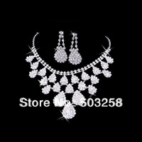 The bride necklace accessories marriage accessories rhinestone necklace hair accessory stud earring