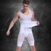 Fast Shipping New TCB-378 10pcs/lot White Color Men's Vest Tank Top Slimming Shirt Corset Left Side Opening Body Shaper