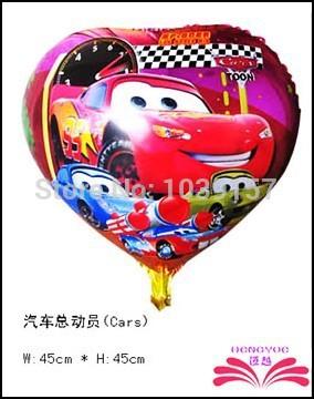 Free shipping 18inch Cars mylar balloon promotion foil balloon mylar balloon size 45x45cm(China (Mainland))